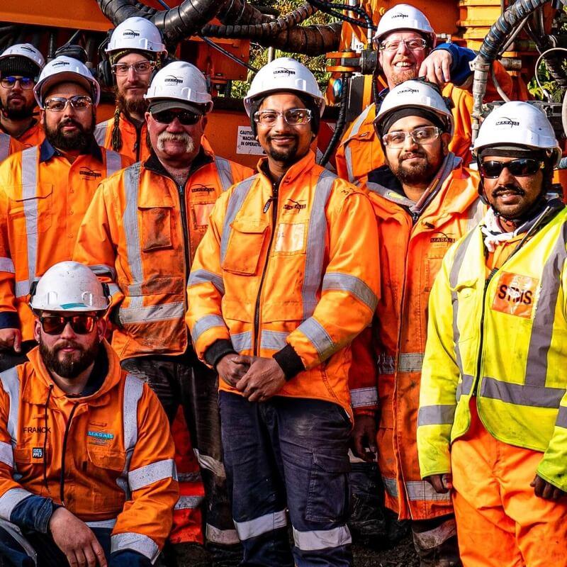 Bhavin with the Marais Laying team