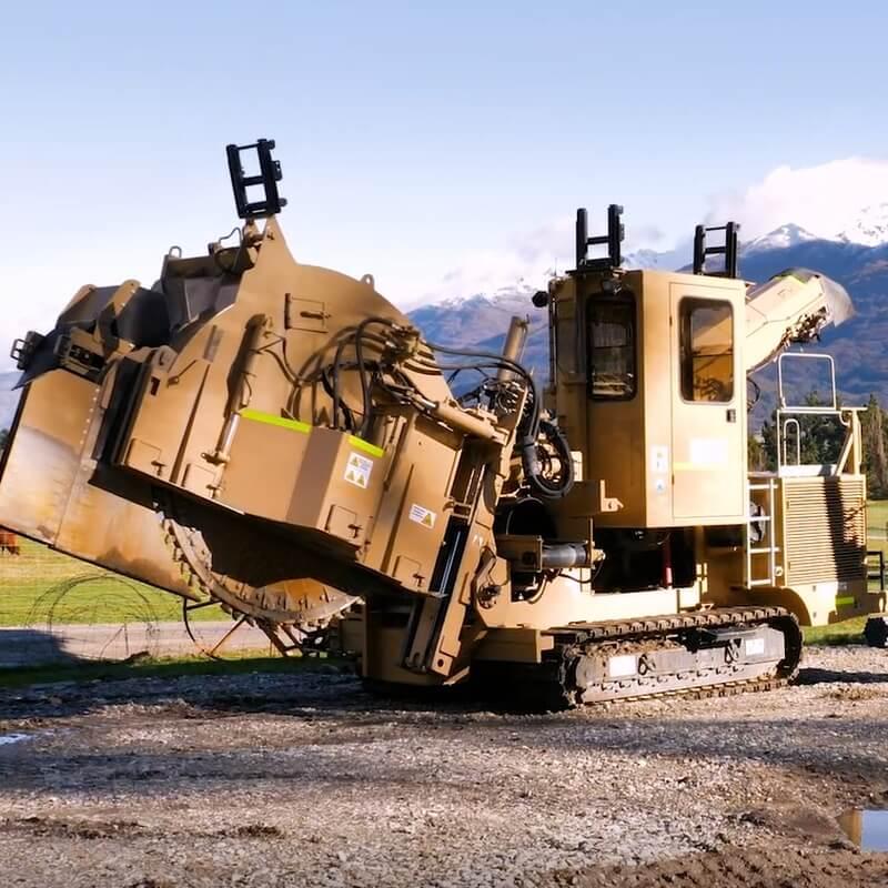 The Tesmec TRS rocksaw trencher